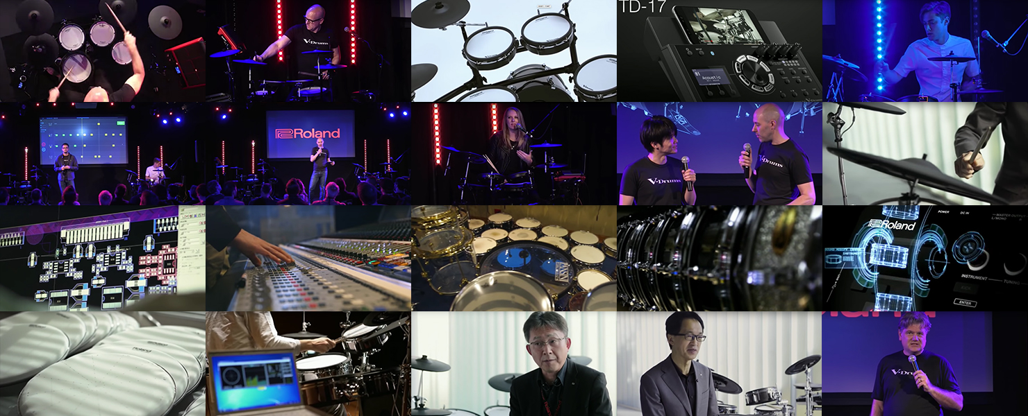 "Video archive from ""#TotallyDrums"" new V-Drums launch keynote session"