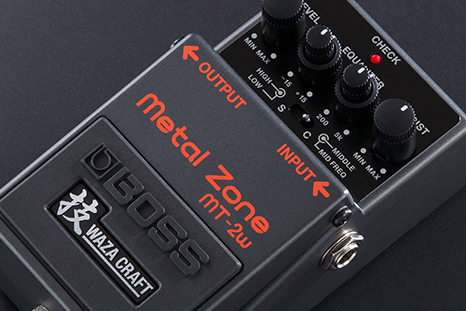 BOSS MT-2W Metal Zone — A High-Gain Icon, Evolved with Waza Innovation —